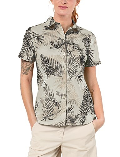 Jack Wolfskin Sonora Palm Shirt XXL Dusty Grey Allover