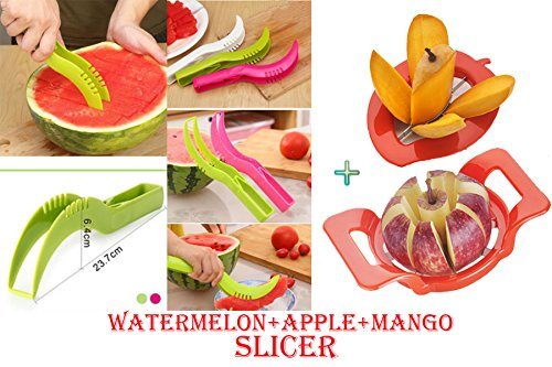 DarkPyro's 3 psc Fruit Slicers Summer Special Combo Includes Watermelon Slicer+Mango Cutter+Apple Cutter