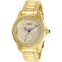 Invicta 28435 Angel Reloj para Mujer acero inoxidable Cuarzo Esfera oro dc7fce13c693