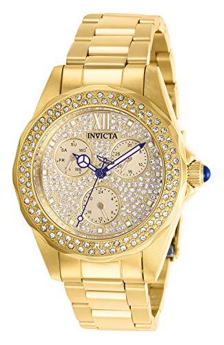 Invicta 28435 Angel Women's Wrist Watch stainless steel Quartz Gold Dial
