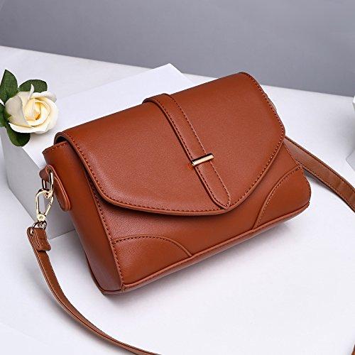 LiZhen piccoli pacchetti femmina marea nuovo mini Messenger Bag borse donna wild, coreano e atmosfera elegante ragazza, spalla la sua carta verde Marrone seppia