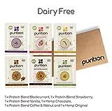 Caja de muestras de batidos de proteínas veganos (6 x 40g). Ideal para perder peso & recuperación post-ejercicio – sustituto de comida 100% natural – Batido para el desayuno sin lácteos