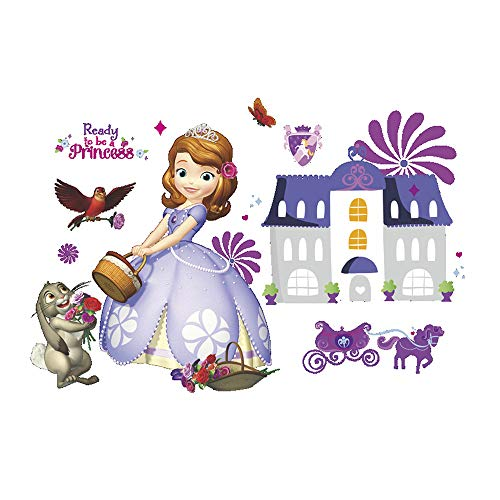 Ufengke Vinilos Infantiles Princesa Morada Pegatinas