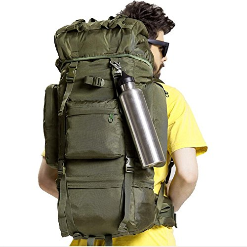 GOUQIN Outdoor Rucksack Klassische Mode Outdoor Rucksäcke Taschen 110 L Masse Klettern Camping Rucksack Grün