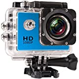 JIUSION Blue, Cam Only: 1080P Full HD Video Action Sport Mini Camera Waterproof Case DV Water Resistant Cam Underwater Diving 5MP Lens Camcorder