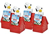 Little Kids Peanuts Snoopy Bubbles Set with Wand, Pack of 4