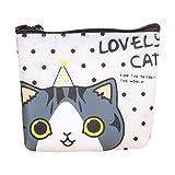 TUDUZ Damen süße Katze Mode Geldbörse Change Tasche Schlüsselhalter Tasche (A)