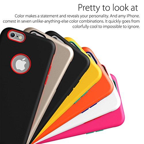 iPhone 3S, Iphone 6cas, araree® [Amy] Bumper en silicone double couche + PC Coque arrière rigide avec couleur tendance pour iPhone 3S, Iphone 6Coque (2015)