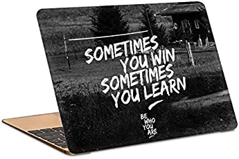 "Postergully 15.6"" Laptop Skin - Sometimes You Win Bewhoyouare"