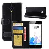 pinlu Coque pour Meizu A5 / M5C Haute Qualité Retro PU Cuir Flip Wallet Etui avec...