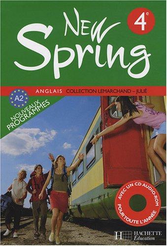 Anglais 4e New Spring (1CD audio) par Françoise Lemarchand