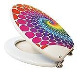 Design Toilettensitz / Toilettendeckel / WC Sitz / Hochwertige Qualität in der Farbe Weiß Rot Gelb Blau Grün Lila / Bunt / Mehrfarbig