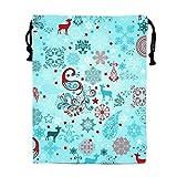 STBESY Floral Bild Kordelzug Wasserdicht Partyzubehör Tasche Tasche für Frauen Herren M Winter Designed Deer10