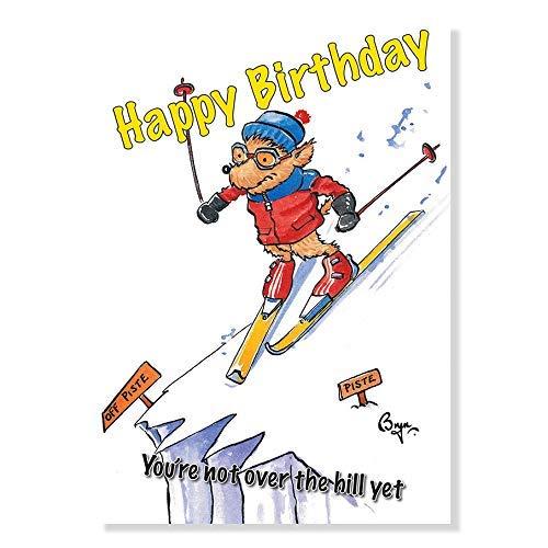 Skifahren Geburtstagskarte von Bryn Parry