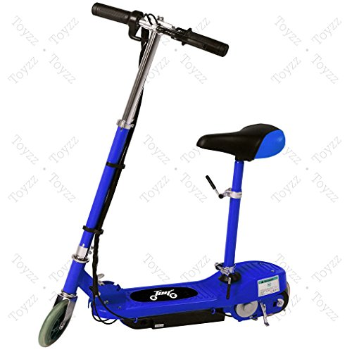 New 2017 Electric E Scooter Ride on Rechargeable Battery Removable Seat Kids Toys Ride On Cars 120W 24V Scooters (BLUE WITH SEAT)