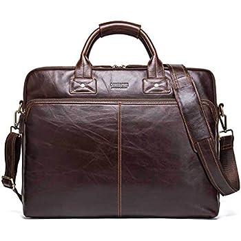 aaa3aad060 Porte-Documents pour Hommes Serviette en cuir cartable pour homme véritable  grande sacoche sac à