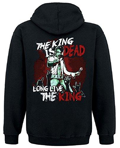 Not Alive - King Is Dead Kapuzenjacke, Farbe: schwarz, Größe: (Halloween Elvis)