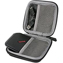 para SanDisk Extreme 500 Portable Disco SSD portátil de 240 GB External Solid State Drive 120GB 240GB 480GB Shockproof Hard Storage Almacenamiento Viajar que Lleva Caja Bolsa Fundas por co2CREA