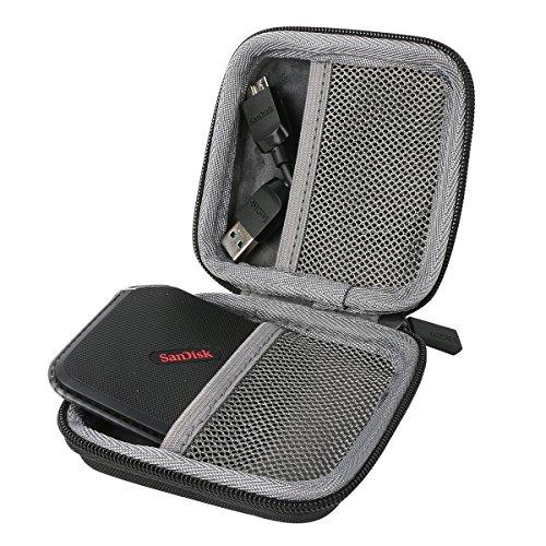 für SanDisk Extreme 500 Portable SSD External Solid State Drive Festplatte 120GB 240GB 480GB Shockproof Hart Storage Reise Lagerung Tragen Taschen Hülle von co2CREA (2t Portable Hard Drive)