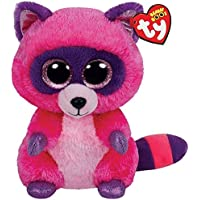 Ty - Roxie, Peluche Mapache, 23 cm, Color Rosa (37043TY)