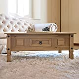 Corona Mexican Pine | Coffee Table | Rustic Design | with Drawer
