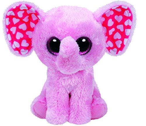 "Beanie Boo Valentine's Elephant - Sugar - Pink - 15cm 6"""