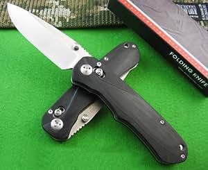 Enlan EL-02 Bee EL02 couteau pliant Couteau de poche Axis Lock 8Cr13MoV Blade G10 Handle Camping Fishing Pocket EDC Folding Knife Tool w/ Money Clip & Lanyard Hole