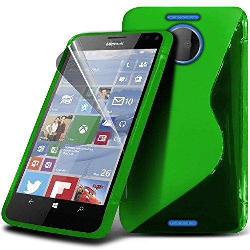 Preisvergleich Produktbild Gadget Giant® Microsoft Lumia 950 XL Hohe Qualität S-Line Hydro Silikon Haut Abdeckung S line flexibel Hülle Case schutzhülle mit Displayschutz-Folie & Eingabestift - Green Farbe