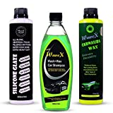Wavex® Complete Car Care Kit Contains Wash and Wax Car Shampoo 500ml,Silicone Glaze