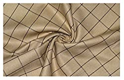 V Walkers Cotton Poly Blend Checkered Trouser Fabric (1.30 MTR)