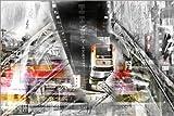 Poster 30 x 20 cm: Wuppertal Abstrakte Collage Skyline von
