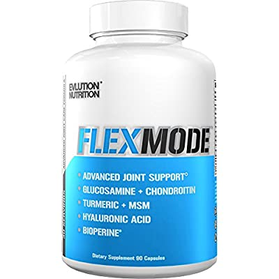 Evlution Nutrition Flex Mode, Joint Support, Glucosamine, Chondroitin, Turmeric, MSM & More 30 Serving Capsules by Evlution