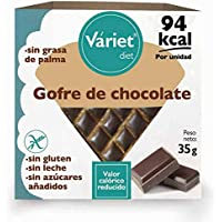 Gofre de CHOCOLATE LIGHT VÁRIET. Sin gluten, sin leche, sin grasa de palma