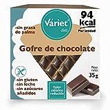 Gofre de CHOCOLATE LIGHT VÁRIET. Sin gluten, sin leche, sin grasa de palma. 35 g