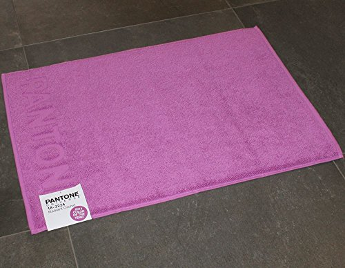 TAPPETO BAGNO PANTONE by BASSETTI 18-3224 RADIANT ORCHID VIOLA CM 50 ...