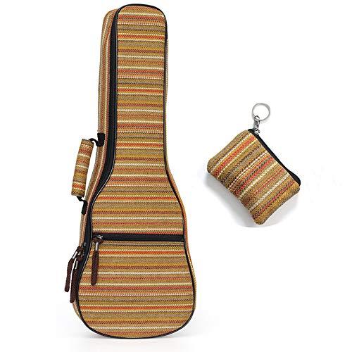 HOMDREAM Ukulele Bag Zaino Custodia 10mm Imbottitura in Cotone Resistente Colorato con Tracolla Regolabile per Concerto Ukeleles Speciale Stile Nazionale,C-21/23inch
