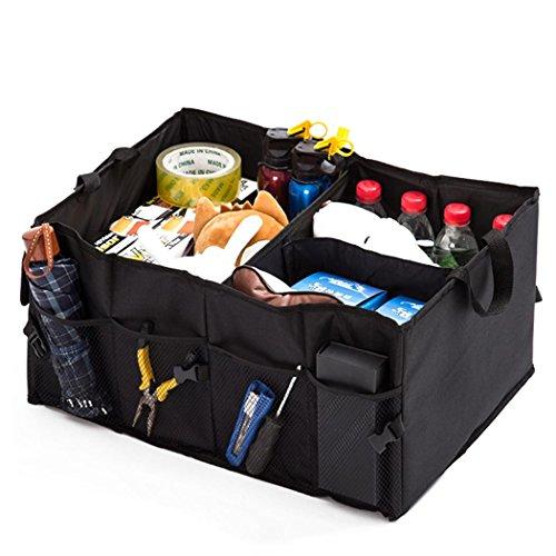 Zcar Car Trunk Organizer, Large Space Multifunktionale Foldable Cargo Lagerung Container Box, Für Auto Auto Vans SUV Trucks Schwarz (Trunk Box Lagerung)
