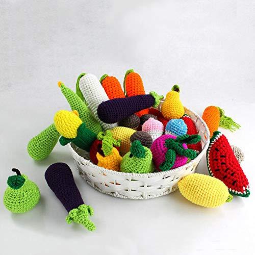 Catkoo Realistische Gemüse Obst Zitrone Häkelspielzeug Neugeborenen Fotografie Requisiten, Perfekte Ausbildung Kinder Intelligenz, Entwickeln Gehirn Geschenke Zufällige Farbe Aubergine*