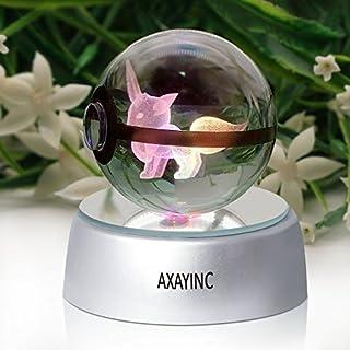 axayinc 3D Crystal Ball LED-Night Lights Advance Laser Gravur Kinder Geschenk Modern Eevee