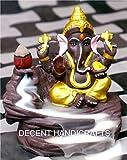 #9: Decent Handicrafts Ganesh Backflow Cone Incense Holder Decorative Showpiece With 10 Free Smoke Backflow Scented Cone Incenses