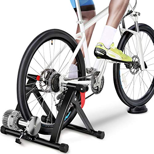 Yaheetech Fahrrad Rollentrainer, Fluid Bike Trainer Ständer, Indoor Fahrrad Übungsständer Fahrradrollentrainer