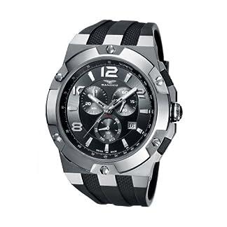 Sandoz 81289-01 – Reloj de Caballero de Cuarzo, Correa de Goma Color Negro