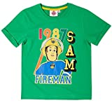 Feuerwehrmann Sam Kollektion 2018 T-Shirt 92 98 104 110 116 122 128 Shirt Fireman Sam Jungen Top Feuerwehrauto Rot (Grün, 104-110)