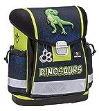Belmil Ergonomischer Schulranzen Jungen 1. klasse 2. klasse 3. klasse - Super Leichte 900-960 g/Grundschule/Dinosaurier Dino/Grün (403-13 Dinosaurs)