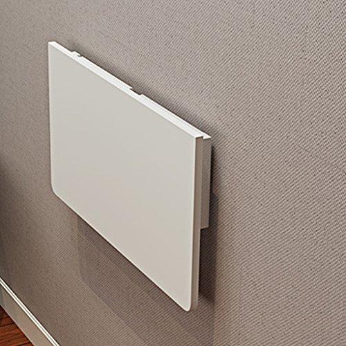 ZCJB Faltbarer Wandtisch Klapptisch Esstisch Wandtisch Computer Tisch Hinweis Schreibtisch Wand Tisch, Multi-Größe Optional, Weiß ( größe : 60*40cm ) Klapptisch Computer