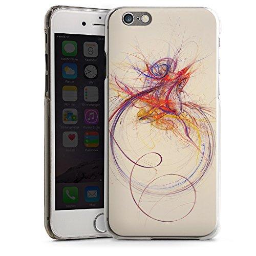 Apple iPhone 4 Housse Étui Silicone Coque Protection Traits Couleur Moderne CasDur transparent