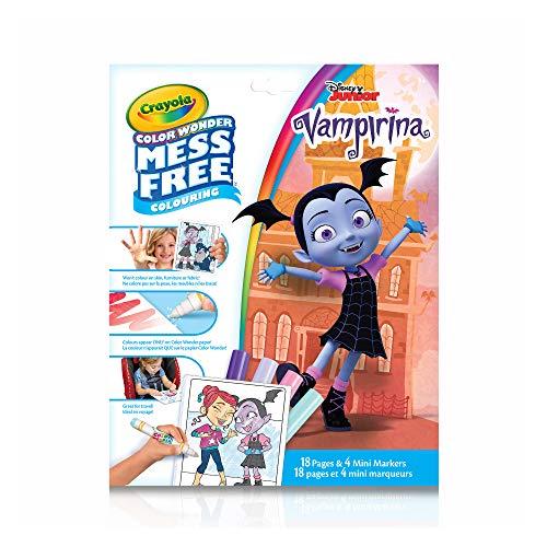 Crayola Color Wonder Mess Free Colouring Vampirina - 18 Pages and 4 Mini Markers (Color Wonder Mini)