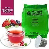 50 Cápsulas de Tisana compatibles Nespresso sabor Tisana frutos rojos, 50 Cápsulas compatible con maquinas Nespresso, Paquete de 5x10 por un total de 50 Capsules, 50 cápsulas tisana, Il Caffè italiano