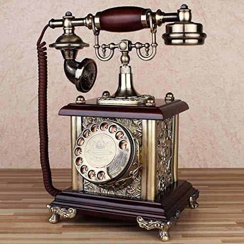 fon Wähltelefon Klassische Metall Uhr Freisprecheinrichtung Verdrahtete Retro Telefon Dekorieren Cafe Bar Fenster Dekoration Dekoration Requisiten ()