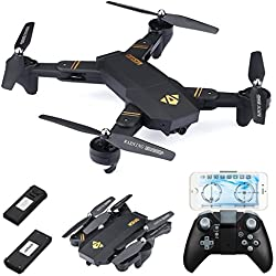 720P RC Quadcopter Drone Plegable, Lente Gran Angular / Velocidad de Nivel 3 / WiFi FPV / Mantenimiento de altitud / Modo sin Cabeza / Una Clave retroceder (Sin lente gran angular)